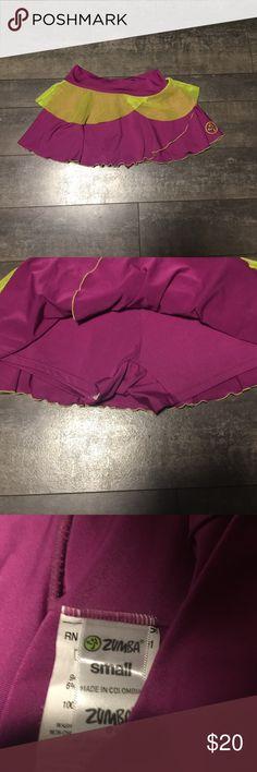 Zumba purple & green skort size small Zumba purple & green skort size small Zumba Shorts Skorts