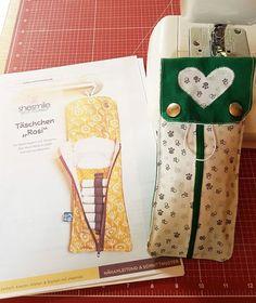 Täschchen für Tampons, Slipeinlagen, Hygieneartikel, Globolis, Schminkzeug oder Stifte - Rosi! Eine Nähanleitung mit Schnittmuster von shesmile. Kundenbeispiel.