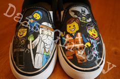 Custom hand painted Lego Movie Toddler Children's by DaisyGirlJoy, $50.00