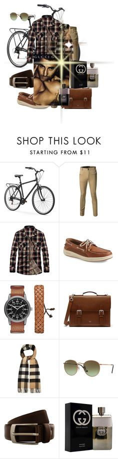 """""""Untitled #2419"""" by princhelle-mack ❤ liked on Polyvore featuring Sperry, Arizona, Mulberry, Burberry, Ray-Ban, Renato Balestra, Gucci, men's fashion and menswear"""