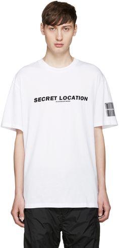 Alexander Wang: White Mixtape T-Shirt   SSENSE
