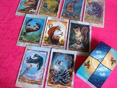 Animism Tarot Deck 79 Card Animal Tarot Includes Happy Squirrel Tarot Card by rainbowofcrazy, $38.00