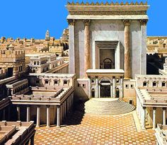 The Temple by King Solomon was the center of Jewish ritual and worship. It housed the ark of the covenant. It was destroyed by Nebuchadnezzar of Babylon and rebuilt by King Herod.
