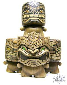 Tenacious Toys Marshall Blind Box Custom Series - Tiki Marshall Vinyl Figures by Nemo Tiki Art, Tiki Tiki, Tiki Head, Tiki Statues, Tiki Totem, Tiki Lounge, Hawaiian Tiki, Vintage Tiki, Pop Culture Art