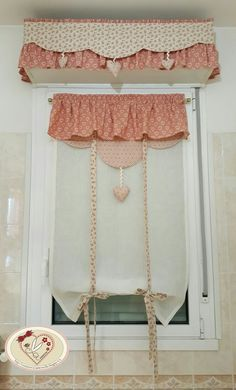 Titti Shabby Chic Kitchen, Country Kitchen, Yellow Kitchen Curtains, Cortinas Country, Window Cornices, Curtains And Draperies, Crochet Curtains, Curtain Styles, Window Dressings