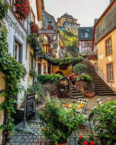 """This fairy tale town is known as the """"Sleeping Beauty"""" of the Moselle Valley 😍 Beilstein, Rheinland-Pfalz, Germany. Photo by ,. Places Around The World, The Places Youll Go, Places To See, Around The Worlds, Beautiful Places To Visit, Wonderful Places, Beautiful World, Beautiful Scenery, Amazing Places"""