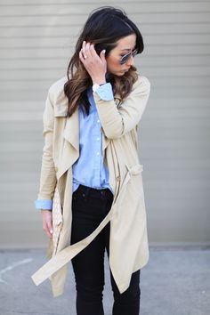 Azalea trench coat