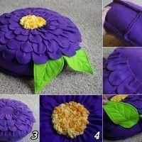 DIY Fleece Flower Petal Pillow