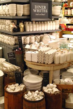 Shopping in NYC at Fishs Eddy - threads and snippets