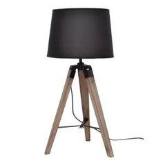 Lampe à poser E27 40 W ø30 cm Noir