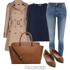 """M&S belted trench Mac"" by kezziedsp on Polyvore"