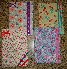Isabela Valim: Tutorial: Cadernos com tecido