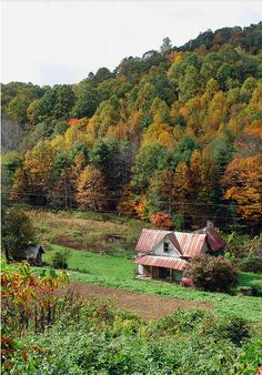 Old Appalachian Mountain farmhouse ~ I know this sounds farfetched, but I'm absolutely certain that I have hiked past this very modest, but beautiful home.  The area surrounding it is gorgeous and very peacefully serene, remote, quiet.