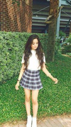 Camila Cabello - Fifth Harmony stylish Fanfic Camren Gp, Shawn Mendes, Fifth Harmony Camren, Camila And Lauren, Looks Street Style, Plaid Skirts, Woman Crush, American Apparel, Teen Fashion