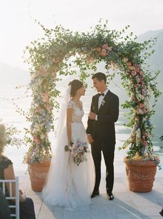 Sonya & Nikita wedding in Kotor bay, Montenegro Wedding Bride, Dream Wedding, Wedding Dresses, Wedding Ideas, Tall Flowers, Wedding Table Flowers, Vase Centerpieces, Whimsical Wedding, Here Comes The Bride
