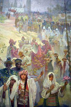 Mucha's Slav Epic- Mir waren bisher nur seine Poster-Ilustrationen bekannt, was ein jammer ist wenn man das hier betrachtet.