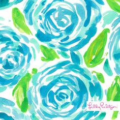Lilly Pulitzer First Impression Print- new poolside blue color