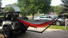 Jeep hitch hammock
