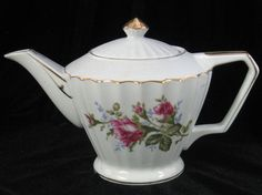 Moss Rose Japan Tea Pot Roses by ChinaLady on Etsy, $25.00