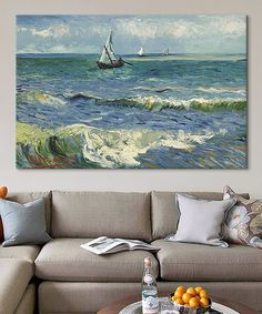Another great find on #zulily! Van Gogh Seascape Near Les Saintes Maries de la Mer Gallery-Wrapped Canvas by iCanvasART #zulilyfinds