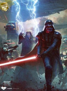 Star Wars Darth Vader and Darth Sidious cover art from the book star wars lords of the sith Star Wars Sith, Clone Wars, Star Trek, Anakin Vader, Darth Vader, Anakin Skywalker, Images Star Wars, Star Wars Pictures, Sith Lord