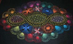 Medium Oval Nanduti from Paraguay in Various Colours | eBay