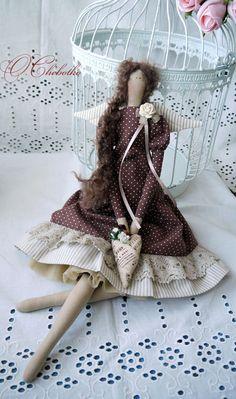 Куклы Тильды ручной работы. Ярмарка Мастеров - ручная работа Шоколадница. Handmade.