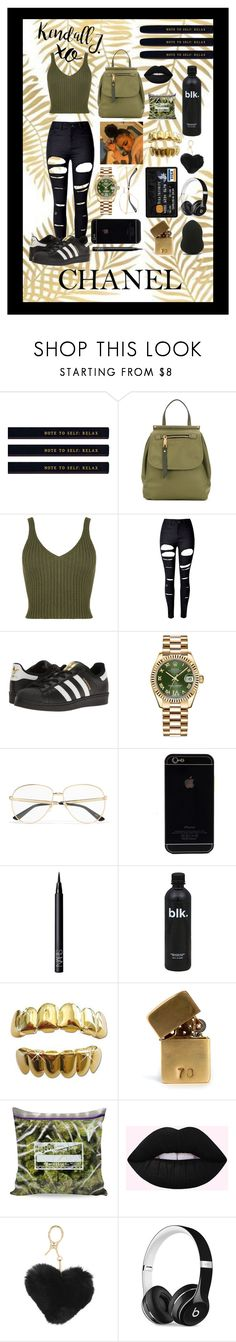 """""""#green #bag"""" by jusfad ❤ liked on Polyvore featuring Marc Jacobs, WearAll, WithChic, adidas Originals, Rolex, Gucci, NARS Cosmetics, In God We Trust, Chanel and INZI"""