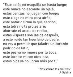 Nos sobran los motivos - Joaquin Sabina ❤