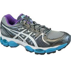 Asics Gel Nimbus 14 Womens Running Shoes Lightning/Purple/Electric Blue