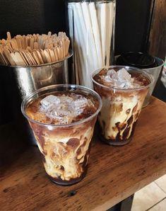 Iced coffee is life Aesthetic Coffee, Aesthetic Food, Iced Coffee, Coffee Drinks, Coffee Art, Coffee Break, Morning Coffee, Decaf Coffee, Coffee Shop