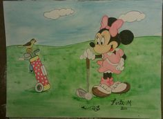Minnie Mouse Watercolor