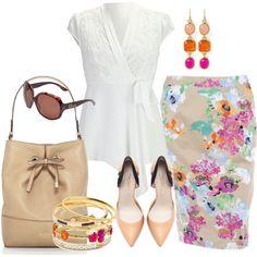 #plussize Floral Skirt - Plus Size