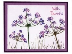 Just for You by Jenny Mayes Art Cards, Grasses, Wildflowers, Your Cards, Stamping, Birthday Cards, Card Ideas, Card Making, Just For You