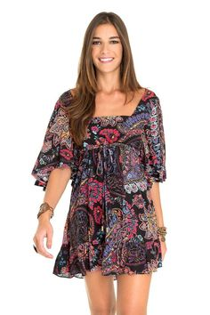 Vestido estampa cashmere floral   Dress to:
