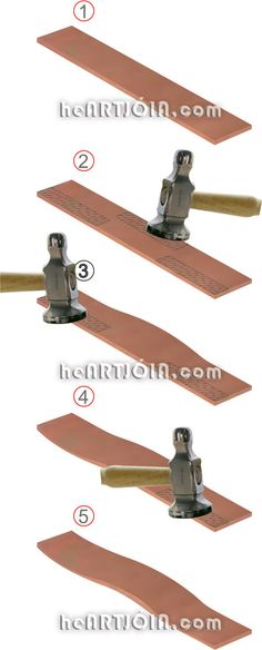 Hammering techniques http://heartjoia.com/4642-como-forjar-forja-metal