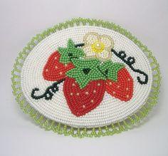 Strawberry's Beaded Barrette