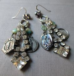 vintage assemblage earrings