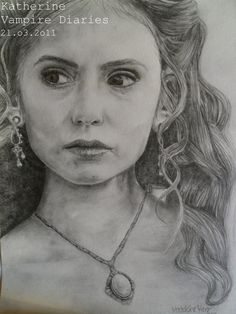 Katherine. The Vampire Diaries by 1drawingGirl.deviantart.com on @DeviantArt