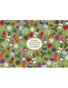 "Lali carte postale jeu ""Noël en Chouette Compagnie..."""