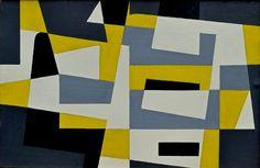 Victor Noël, Compositie, olie op paneel, 1958.