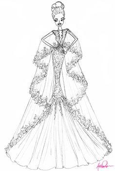 9 best images fashion illustrations fashion sketchbook Making Clothes brides designer sketches of angelina jolie s wedding dress wedding dresses brides