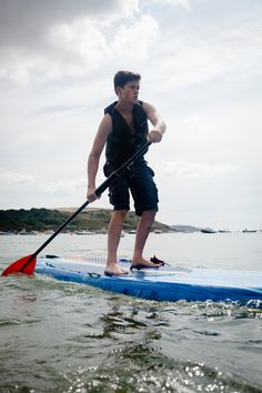 Paddy paddling into 2nd place in our SUP Race. #CrewSUP