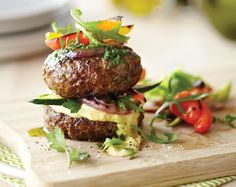 Homemade Beef Burgers with Grilled Vegetables Recipe | Beef + Lamb New Zealand