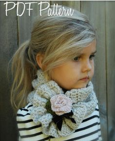 Crochet PATTERNThe Ashby Scarf AdultChild by Thevelvetacorn