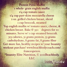 Protein Pizza Muffin...sounds delish!