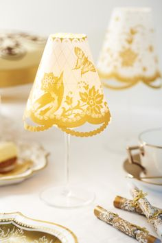 wine glass lamp shades