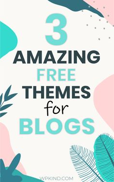 I look at the 3 best free WordPress themes available for your WordPress blog. All these themes have extensive customisation options to help you make your new theme your own. I help you pick the perfect WordPress theme for your blog with this guide. Get on the path to blogging success with these tips. | wordpress themes free | blogging tips | blogging for beginners | start a blog #freewordpressthemes #wordpressthemes #wordpressblog #bloggingtips #bloggingforbeginners #wordpress Best Free Wordpress Themes, Wordpress Free, Themes Free, Wordpress Admin, Learn Wordpress, Seo Tutorial, Wordpress Template, Blogging For Beginners, Blog Tips