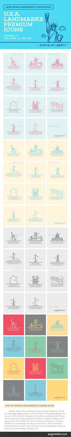 World Landmark Icons - Vol. 4 (U.S.A.) You can download it from here http://graphicriver.net/item/world-landmark-icons-vol-4-usa/10305277?ref=PugMarker