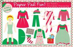 Freebie: Printable Holiday Paper Doll